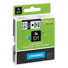 DYMO Schriftbandkassette D1 S0720780 6mmx7m sw auf ws