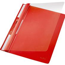 Leitz Einhakhefter 41900025 DIN A4 kfm. Heftung PVC rot