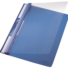 Leitz Einhakhefter 41900035 DIN A4 kfm. Heftung PVC blau