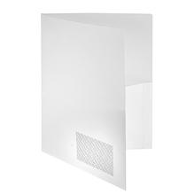 FolderSys Broschürenmappe 10008-10 DIN A4 PP Klarsichttasche weiß