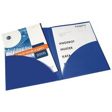 FolderSys Broschürenmappe 10008-40 DIN A4 PP Klarsichttasche blau