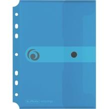 Herlitz Dokutasche 11293826 DIN A5 PP z.Abh. transparent blau