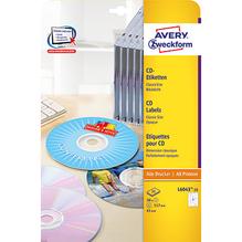 Avery Zweckform CD/DVD-Etikett L6043-25 117mm weiß 50 St./Pack.
