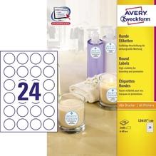 Avery Zweckform Etikett L3415-100 40mm weiß 2.400 St./Pack.
