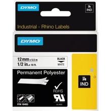 DYMO Schriftbandkassette Rhino ID1 18483 12mmx5,5m sw auf ws