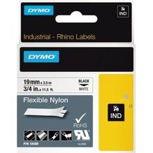 DYMO Schriftbandkassette Rhino ID1 18489 19mmx3,5m sw auf ws