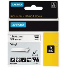 DYMO Schriftbandkassette Rhino ID1 18445 19mmx5,5m sw auf ws