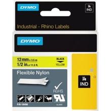 DYMO Schriftbandkassette Rhino ID1 18490 12mmx3,5m sw auf ge
