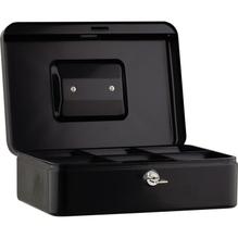 Geldkassette 25x9x18cm 6Fächer schwarz