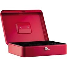Geldkassette 30x9x24cm 5Fächer rot