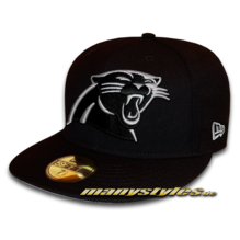 Carolina Panthers official NFL Basic exclusive 59FIFTY Cap Black White