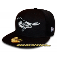 BALTIMORE ORIOLES MLB Basic 59FIFTY exclusive Cap Black White