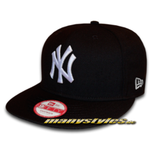NY YANKEES 9FIFTY League Essential Snapback Cap Black White