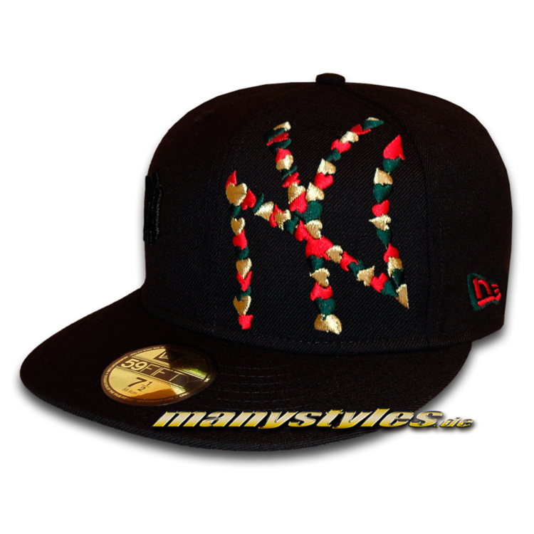 NY YANKEES MLB Flawless Big Logo Heart Cap Black Gold