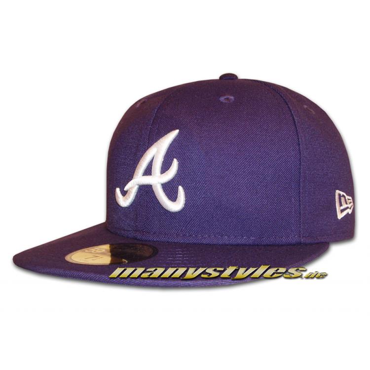 ATLANTA BRAVES MLB Basic Cap Purple White