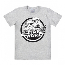 Star wars t shirt storm trooper heather grey black white logo shirt