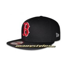 Boston Red Sox 9FIFTY Authentic Basic Cotton Block Snapback Cap