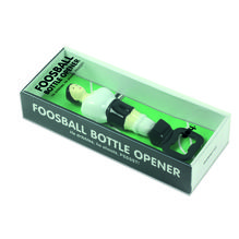 Foosball Flaschenöffner schwarz/weiß
