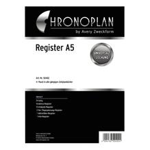 Chronoplan Register 50402 166x214mm für DIN A5 31Blätter
