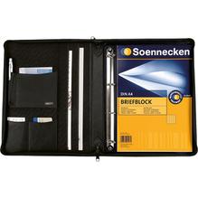 Schreibmappe NIZZA 640222290 DIN A4 Leder schwarz