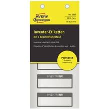 Avery Zweckform Inventaretikett 6905 PES 50x20mm si/sw 50 St./Pack.