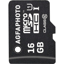 AgfaPhoto Speicherkarte MicroSDHC 10580 Class 10 UHS-1 16GB +Adapter