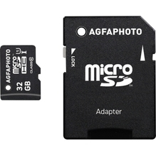AgfaPhoto Speicherkarte MicroSDHC 10581 Class 10 UHS-1 32GB +Adapter