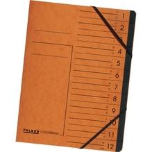 Falken Ordnungsmappe 11288826 DIN A4 12Fächer Karton orange