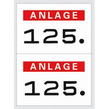 HERMA Nummern Etikett 4832 15x22mm rot 1.000 St./Pack.