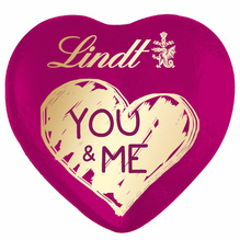 Lindt Schokoladenherz 'YOU & ME' Milch, 20g