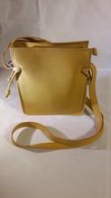 Damen-Leder-Handtasche, Farbe gelb