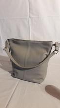 Damen-Leder-Handtasche, Farbe schwarz