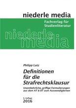 Definitionen für die Strafrechtsklausur | Lutz, Philipp