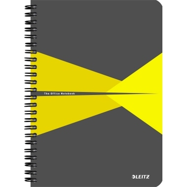 Leitz Collegeblock Office 44590015 DIN A5 Karton lin. gelb