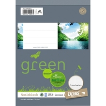 Ursus Schreibblock Ursus Green 03654820 DIN A5 kar. 70g 48Bl