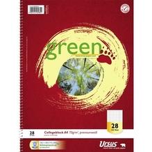Ursus Collegeblock Green 608590028 DIN A4 70g kariert/Rand 160Blatt