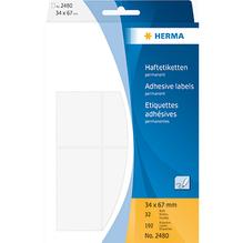 HERMA Etikett 2480 34x67mm weiß 192 St./Pack.
