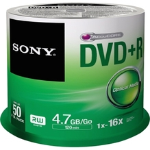 Sony DVD+R 50DPR47SP 16x 4,7GB 120Min. Spindel 50 St./Pack.