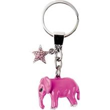 Schlüsselanhänger-Elefant-pink
