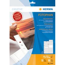 HERMA Fotohülle Fotophan 7583 für 13x9cm weiß 10 St./Pack.