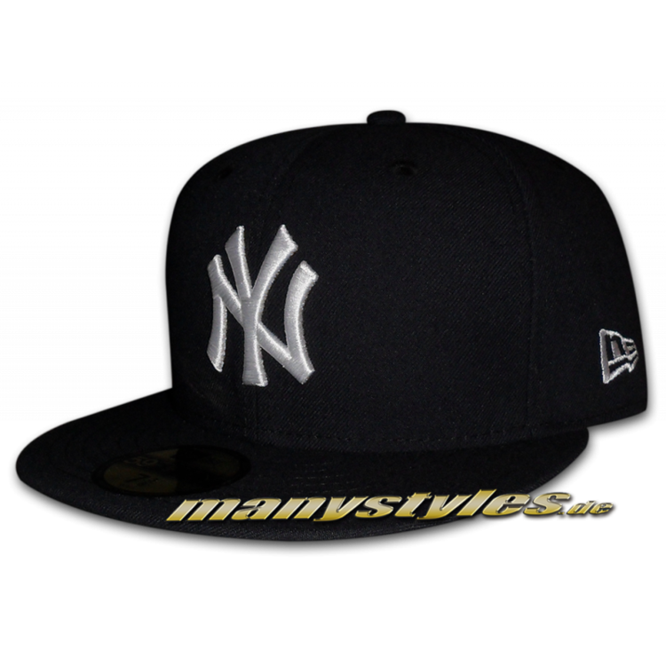 NY Yankees MLB GITD (Glow in the Dark) 59Fifty Navy White Cap
