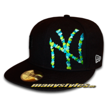 NY YANKEES MLB Special Flawless Big Logo Multi Colored Heart Cap Vice Black Green Vice Blue