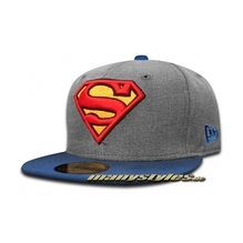 DC Comic Art 59FIFTY Superman Heather Hero Cap Heather Chambray OTC