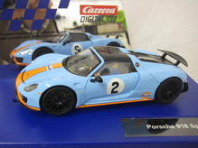 30788 Carrera Digital 132 Porsche 918 Spyder Gulf Racing No. 02