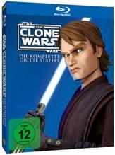 Star Wars, The Clone Wars. Staffel.3, 3 Blu-rays
