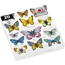 FASANA Serviette 219141 33x33cm 3lagig Butterflies 20 St./Pack.