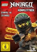 LEGO NINJAGO Komplettbox. Staffel.1-6, 13 DVDs