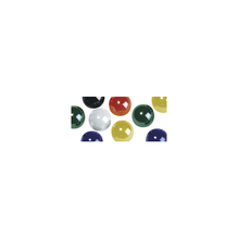 Acryl-Halbperlen, irisierend, 6 mm ø, SB-Blister 48 Stück, gemischt
