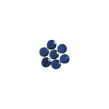 Glas-Strasssteine, zum Aufbügeln, 3 mm ø, 45 Stück, d.blau