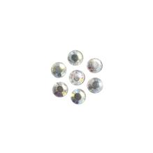Glas-Strasssteine, zum Aufbügeln, 4mm ø, SB-Btl, kristall iris., 36 St.